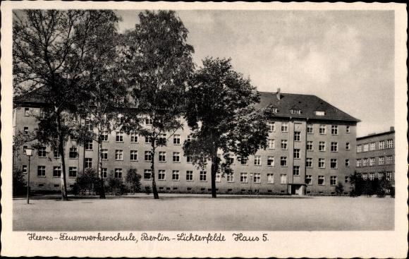 ansichtskarte postkarte berlin steglitz lichterfelde partie an der heeres feuerwer. Black Bedroom Furniture Sets. Home Design Ideas