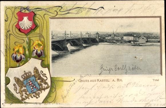 Pr u00e4ge Wappen Ansichtskarte    Postkarte Mainz Kastel   akpool de