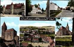 Postcard Altenstadt Oberpfalz, Friedrichsburg, Fahrenberg, Waldau
