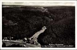 Postcard Bad Liebenzell im Schwarzwald, Kurhaus Monbachtal, Fliegeraufnahme