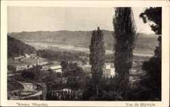 Postcard Olympia Griechenland, Teilansicht der Ortschaft