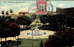 Postcard Havanna Kuba, Indian Park, Parkanlagen, Denkmal