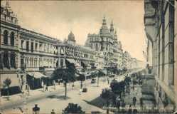 Postcard Rio de Janeiro Brasilien, Avenida Rio Branco, Straßenpartie