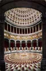 Postcard Kelheim, Befreiungshalle, Innenansicht, Kuppel, Flur, Mosaik