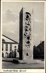 Postcard Frankenthal in Rheinland Pfalz, Blick auf das Ehrenmal, Platz, Denkmal