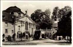 Postcard Kelheim an der Donau Niederbayern, Klosterkirche Weltenburg mit Klosterhof