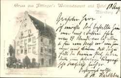 Postcard Nürnberg in Mittelfranken Bayern, Föttinger's Weinrestaurant und Hotel