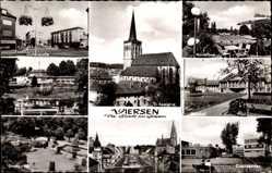 Postcard Viersen in Nordrhein Westfalen, Lindenstraße, Bahnhof, Stadtgarten, Kirche