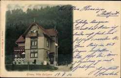 Postcard Hirsau Calw im Nordschwarzwald, Blick auf die Villa Helizena