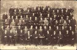 Postcard Stuttgart in Baden Württemberg, Gruppenfoto, Staatlicher Notariatskurs