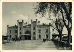 Ak Leszno Lissa Posen, Ansicht vom Bahnhof, Dworzec