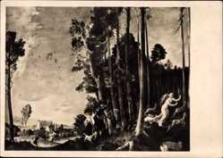 Künstler Ak Weiss, Franz, Romanze, München, Haus der Deutschen Kunst, HDK 518