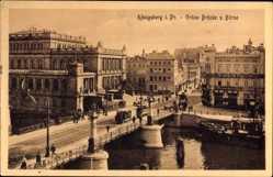 Ak Kaliningrad Königsberg Ostpreußen, Grüne Brücke und Börse