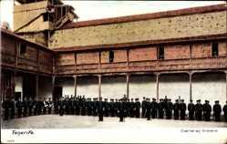 Ak Orotava Teneriffa Kanarische Inseln Spanien, Cuartel, Innenhof, Soldaten