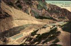 Postcard Provincia de Mendoza Argentinien, Banos de Cacheuta, Flusspartie