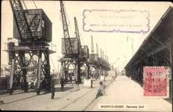 Postcard Buenos Aires Argentinien, Darsena Sud, Hafenpartie, Hebekräne