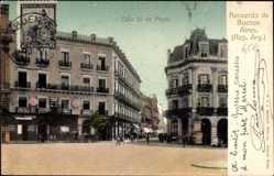 Postcard Buenos Aires Argentinien, Calle 25 de Mayo, Straßenpartie