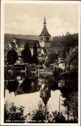 Postcard Bad Liebenzell im Schwarzwald, Partie am See, Glockenturm, Häuser