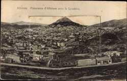 Leporello Ak Athen Griechenland, Panorama, Parthenon, Bacchustheater, Stadion