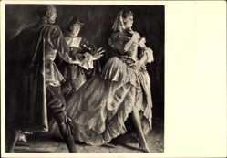 Künstler Ak Engelhard, Jul., Begegnung, HDK 423, Dame