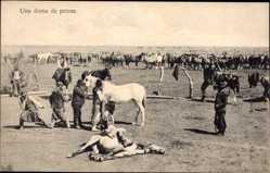 Postcard Argentinien, Una doma de potros, Dressurpferde, Koppel