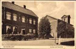 Postcard Birgelen Wassenberg Kreis Heinsberg, Kirche und Pastorat