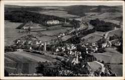 Postcard Denklingen in Oberbayern, Gesamtansicht der Stadt mit Landschaft