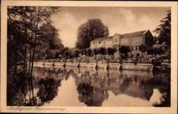 Postcard Ratingen, Ausflugsort Krummenweg, Restaurant Doerenkamp, Gewässer