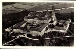 Postcard Bad Staffelstein, Fliegeraufnahme, Blick auf das Schloss Banz