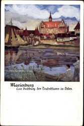 Künstler Ak Malbork Marienburg Westpreußen, Hochburg
