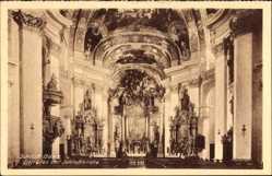 Postcard Bad Staffelstein, Schloss Banz, Inneres der Schlosskirche, Prunk