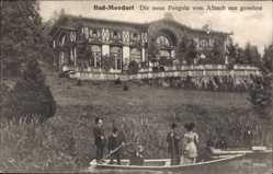 Postcard Mondorf les Bains Luxemburg, Die neue Pergola vom Albach aus gesehen