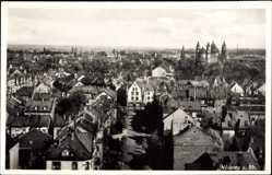 Postcard Worms in Rheinland Pfalz, Blick auf den Ort, Dom, Straße, Häuser