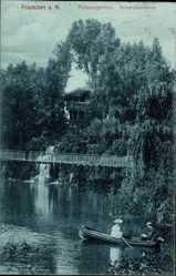 Postcard Frankfurt am Main, Partie im Palmengarten, Schweizerhaus, Ruderboot