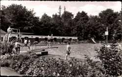 Postcard Bad Nauheim im Wetteraukreis Hessen, Parkschwimmbad, Sprungturm