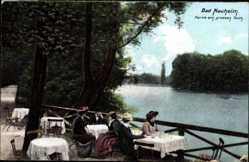 Postcard Bad Nauheim im Wetteraukreis Hessen, Partie am großen Teich