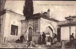 Postcard Saloniki Griechenland, Vieille Fontaine Turque Alatja imaaré