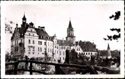Postcard Stetten am kalten Markt im Kreis Sigmaringen, Blick auf Schloss Sigmaringen