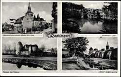 Postcard Ratingen im Kreis Mettmann, Heimatmuseum Katholische Kirche, Blauer See