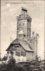 Postcard Seebach, Blick auf den neuen Hornisgrindeturm, 1166 m