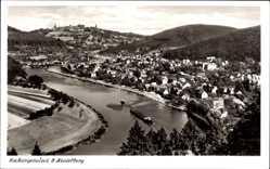 Postcard Neckargemünd in Baden Württemberg, Gesamtansicht mit Neckar