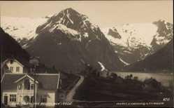 Postcard Balholm Sogn Balestrand Norwegen, Sognfjord, Parti, Häuser am Wasser, Fjord