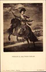 Künstler Ak Velazquez, Principe D. Baltasar Carlos von Spanien, Infant