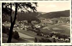 Postcard Warmensteinach Oberfranken Bayern, Blick auf den Ort