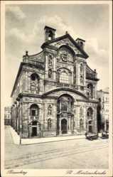 Postcard Bamberg an der Regnitz Oberfranken, Die St. Martinskirche