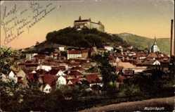 Postcard Kulmbach in Oberfranken Bayern, Blick auf den Ort mit Plassenburg