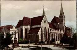 Postcard Augsburg in Schwaben, Blick auf den Dom und Siegesdenkmal