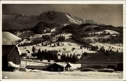 Postcard Bad Hindelang im Oberallgäu, Wintersportplatz, Oberjoch mit Iseler