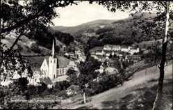 Postcard Bad Peterstal Griesbach Schwarzwald, Waldblick zum Ort, Kirche