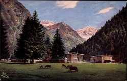 Künstler Ak Oberstdorf im schwäbischen Kreis Oberallgäu, Oytal, WIRO 2384 A